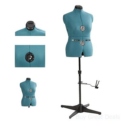 Dress Form Mannequin Professional Sewing Stand Female Size Medium Adjust - Green