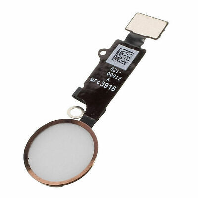 Gold Home Button / Touch ID Assembly Inc Flex Cable For Apple iPhone 8 Plus UK