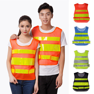 High Visibility Reflective Safety Vest Workwear Traffic Warning Waistcoat Tops Traffic Safety Vest