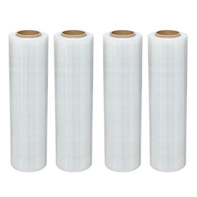18 X 1500 4 Roll Pallet Wrap Pre-stretch Film Shrink Wrap 1500ft