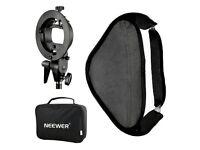 "Neewer Photo Studio Multifunctional 32x32"" Softbox with S-type Speedlite Flash Bracket Mount"