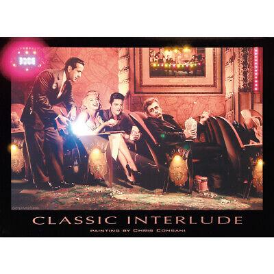 James Küche (LED beleuchtetes Bild Classic 81x61 cm 46 LEDs Bogard Elvis Monroe James Dean)