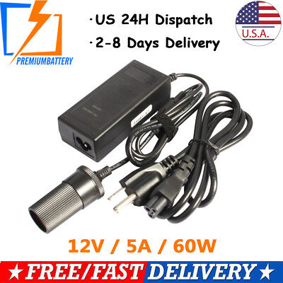 Power Regulator Converter 12V 5A AC/DC Adapter Provision Car Cigarette Lighter p