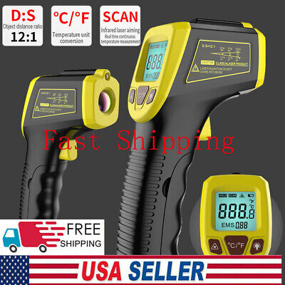 Digital Infrared Thermometer Handheld Temperature Gun Non-contact Ir Laser Point