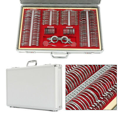 266 Pcs Optical Trial Lens Set Metal Rim Optometry Kit Alu Casefree Trial Frame