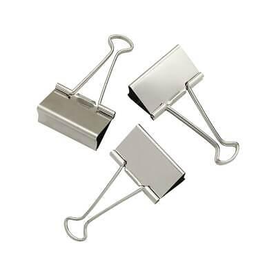 - Staples Large Satin Silver Metal Binder Clips 2