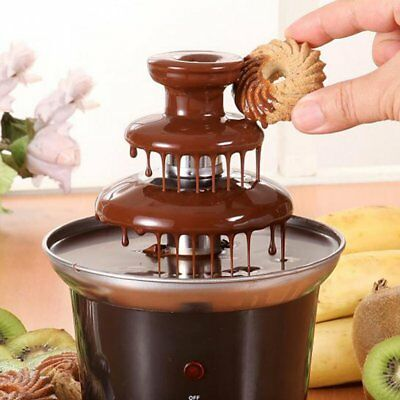 J-JATI Table Size Electric Chocolate Fountain Black Steel CF12A