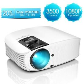 ELEPHAS 3500 Lumens HD Video Projector 200'' Home Cinema LCD Movie Projector