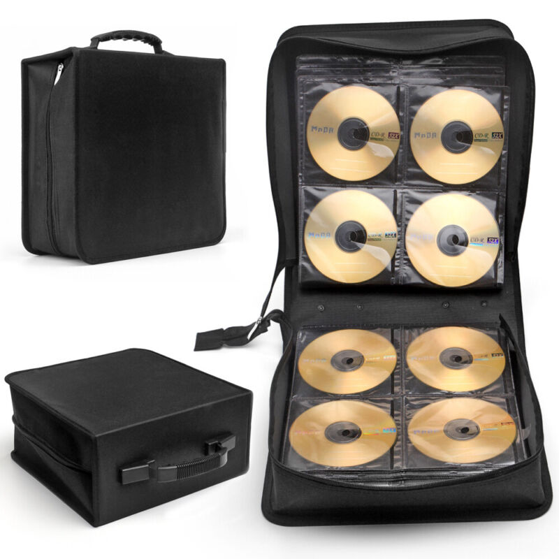 288 Disc CD DVD Bluray Storage Holder Solution Binder Book Sleeves Carrying Case