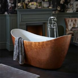 Heritage Hylton Copper Effect Acrylic Double Ended Slipper Bath 1730mm Was £2550 Now £1912.50!!