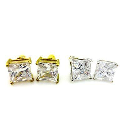 (Classic elegant big diamond stud style crystal earrings, multiple choices)