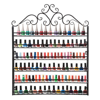 6-Tier Nail Polish Display Rack Wall Mount Stand Organizer Hold 160 Bottles for sale  Shipping to Canada