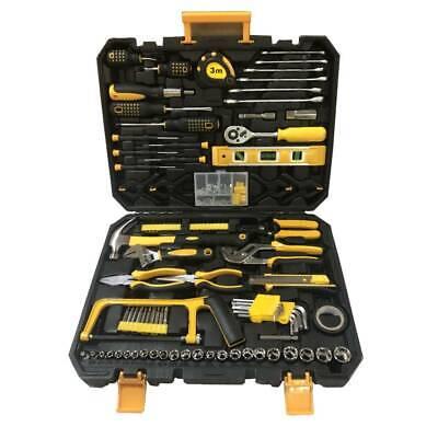 198 PCS Hand Tool Set Mechanics Kit Wrench Socket Household Repair Tools w/ Case