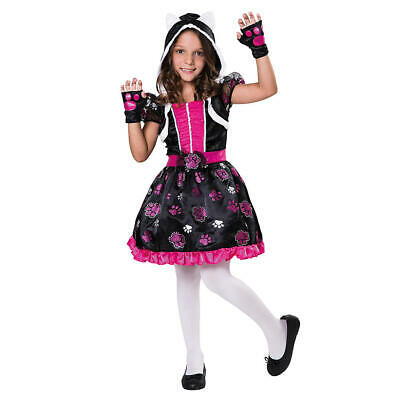 Girl Cat Costumes (Pretty Purrfect Girl's Glitter Cat Halloween Costume - 4-6 Small)
