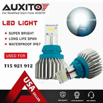 2X CANBUS 921 912 T15 Backup Reverse Light CSP 6000k White LED Bulbs 4000LM EOA