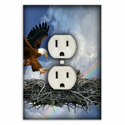 Eagle's Nest Light Switch Outlet Cover - Decorative Switch Plate Outlet Cover for sale  Stafford