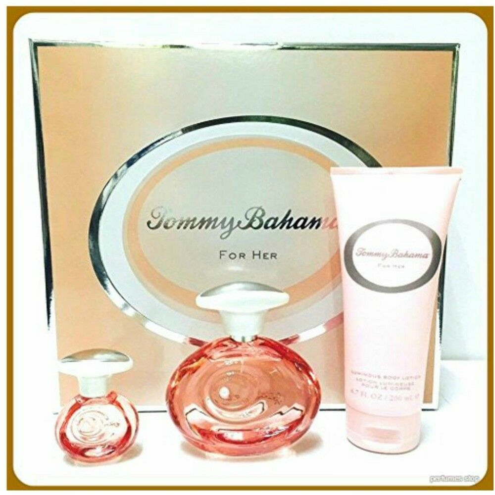 Tommy Bahama For Her 3 Pc Gift Set Brand new in Hard Box dis