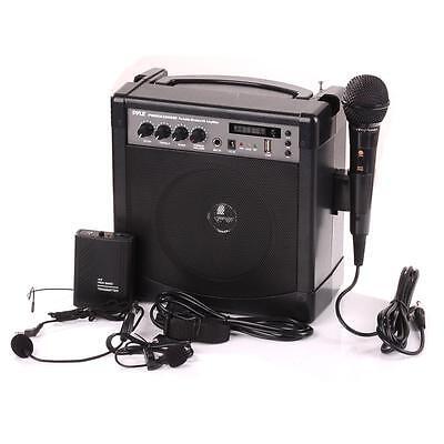 New PWMA220BM Portable Karaoke Bluetooth PA Speaker Amp Wireless & Wired Mic