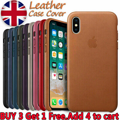 UK Original Genuine PU Leather Case Cover Skin For Apple iPhone XR 7 8 6 6S Plus