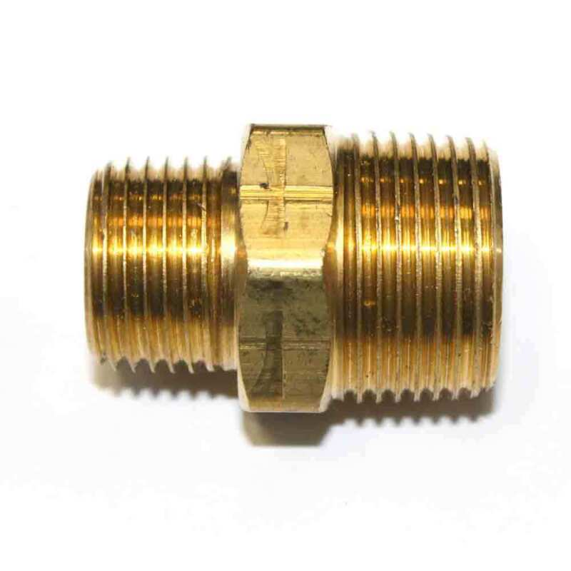 """1/2"""" x 3/4"""" NPT Male Brass Hex Nipple Reducer pipe fitting air fuel water FA819"""