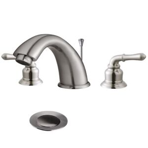Brushed Nickel Bathroom Faucet Widespread EBay - Discount bathroom sink faucets