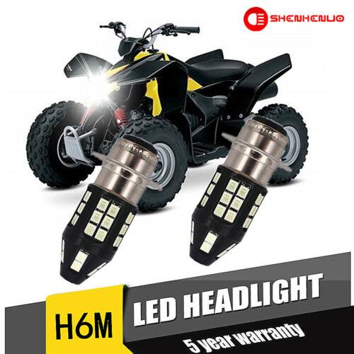 100W Headlights For Suzuki LTZ 400 Z400 QUADSPORT 2003–2008 6000K LED Bulbs H6M