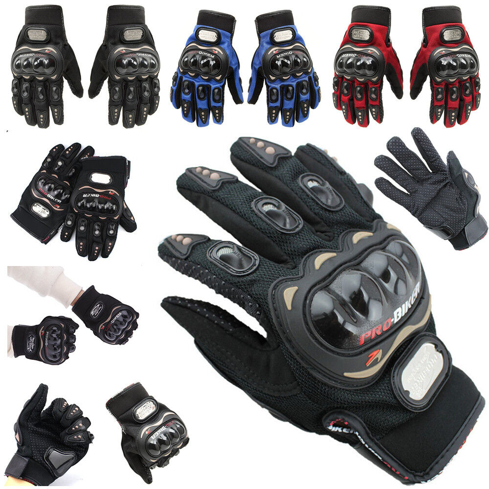 Pro Biker Motorcycle Armored Riding Gloves Protective Racing Knuckle Racing