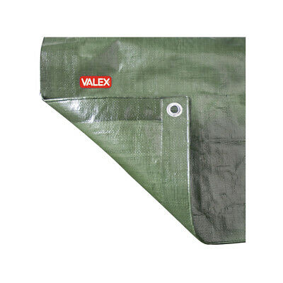 Valex Tarpaulin Eyelets Mid Green 6x10MT 90GR / Mq Tarp Coverage Waterproof