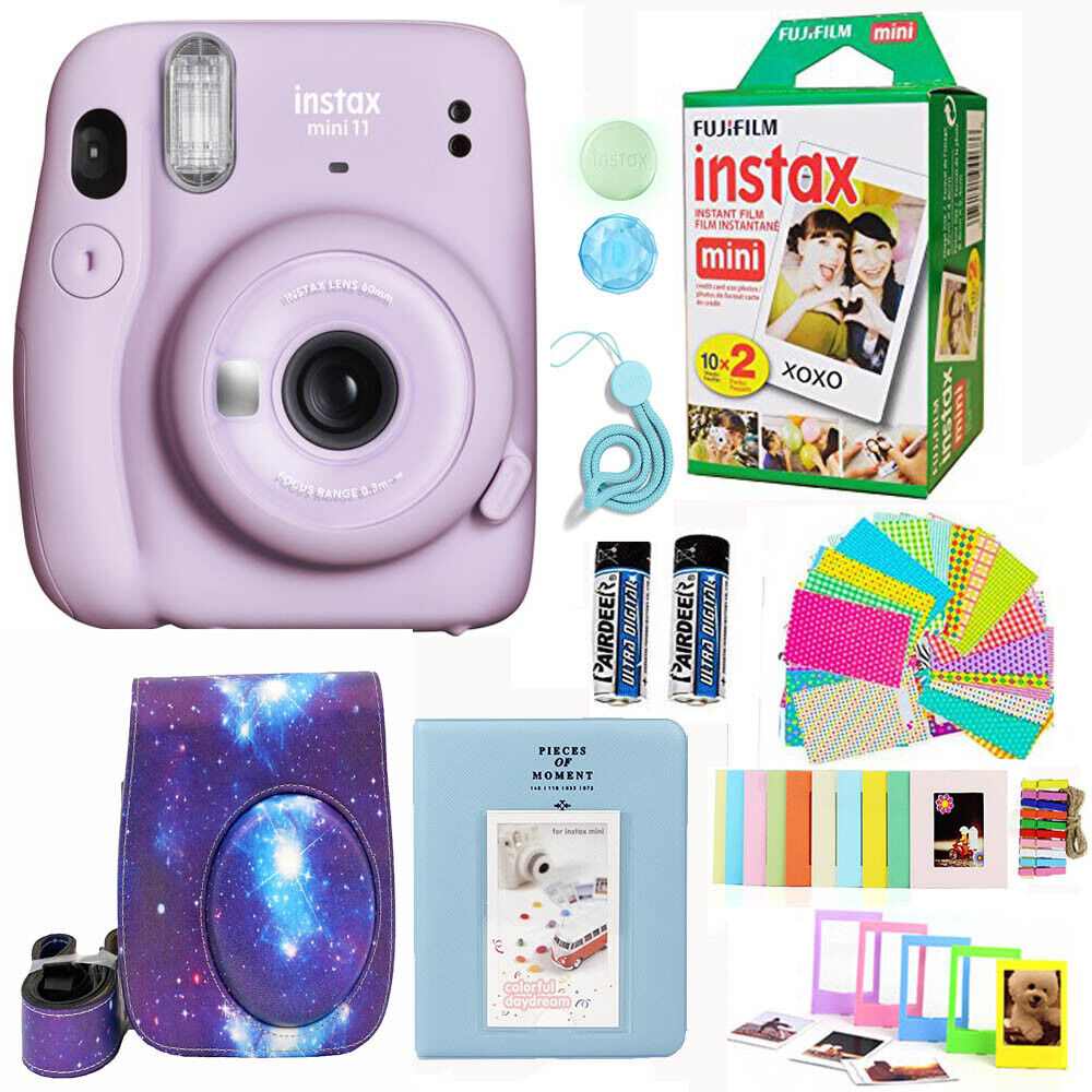 Fujifilm Instax Mini 11 Camera Purple + 20 Fuji Film Deluxe