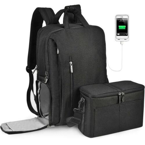 CADeN Waterproof Camera Bag Backpack with w/USB Charging Por