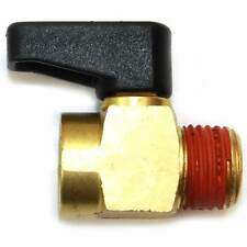 "1/4"" MPT Male Thread Air Compressor Tank Drain Cock Ball Valve Assembly Brass"
