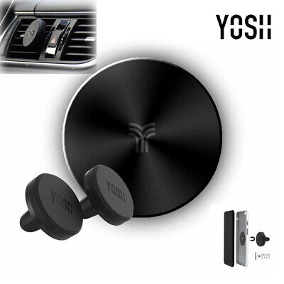 2 YOSH Magnetic Car Phone Holder Air Vent For iPhone Samsung Huawei Metal Plates