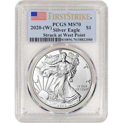 2020-(W) American Silver Eagle - PCGS MS70 - First Strike