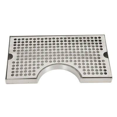 Drip Tray Wcutout For Tower Beer Draft No Drain Removable Grate Stainless Steel