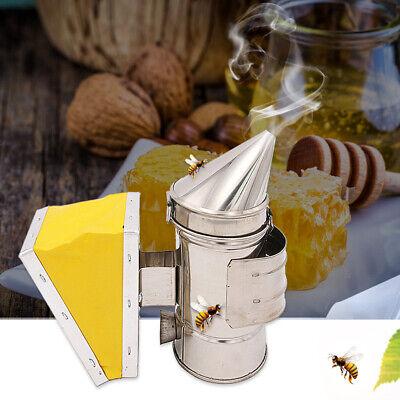 Bee Hive Smoker Bee Keeper Smoker Stainless Steel Heat Chamber Tool Yellow K5q6