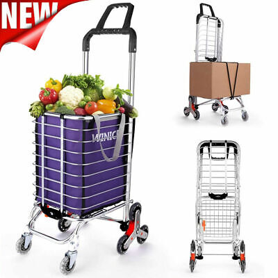 Heavy Duty Stair Climber Hand Truck Dolly Cart Trolley Shop W Backup Foldable