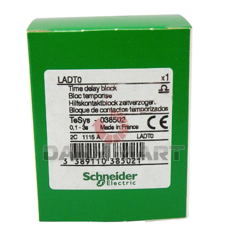 New Schneider LADT0 Contactor Time Delay Block 0.1-3s