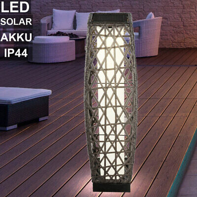 LED solar table lamp rattan style garden lighting balcony stand outdoor lamp new