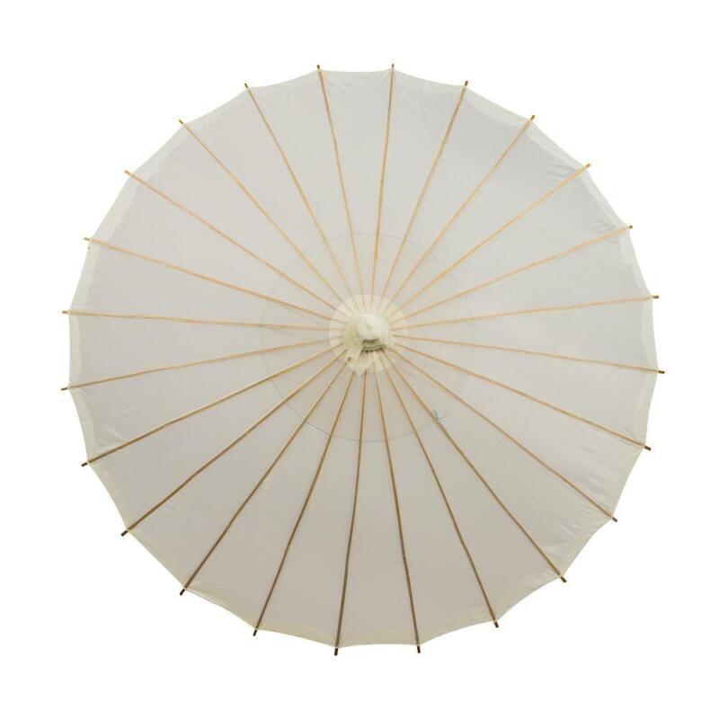 """28"""" Beige / Ivory Parasol Umbrella, Premium Nylon"""