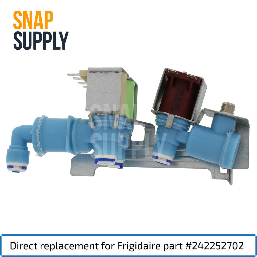 Snap Supply Water Valve for Frigidaire Directly Replaces 242252702