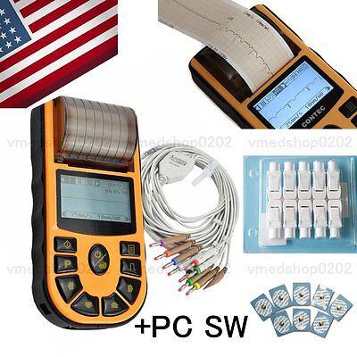 Fda Ecg80a Lcd One-channel Ecgekg Machine Electrocardiographusb Swprinterusa