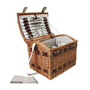 4 Person Picnic Basket Set w/ Cheese Board Blanket Sydney City Inner Sydney Preview