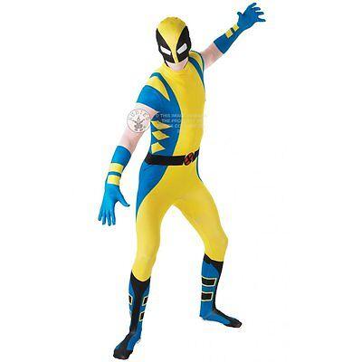 Marvel Wolverine Adult 2nd Skin Fancy Dress Costume Bodysuit Sizes M L - Wolverine Fancy Dress Kostüm