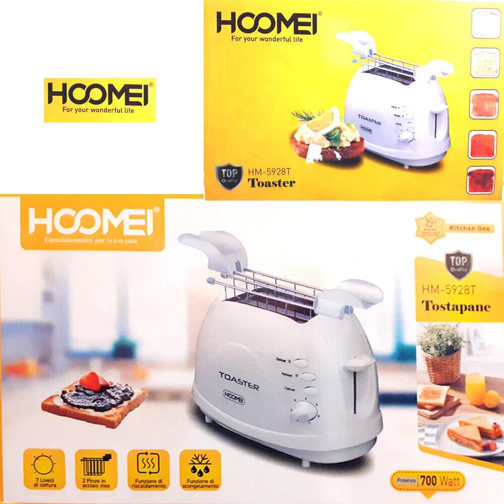 Tostapane con prese Tostiera Con Pinze Per Toast 2 Fette 700w Hoomei hm-5928 t