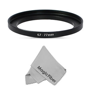 67-77mm Step-Up Metal Adapter Ring / 67mm Lens to 77mm Accessory