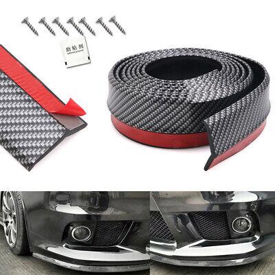"""2""""x100"""" Universal Carbon Front Bumper Lip Splitter Spoiler Skirt Body Protector"""