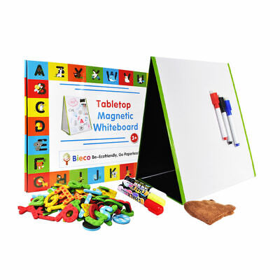Small Dry Erase White Board 16x12-magnetic Desktop Double Sided Foldable