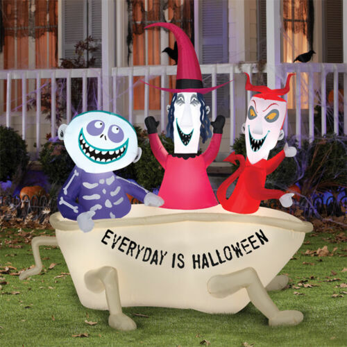 LOCK SHOCK AND BARREL IN TUB Nightmare Before Christmas Inflatable PRESALE
