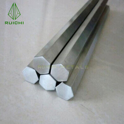 Titanium Hexagonal Bar 12x12mm Dia X 60cm Length Ti Metals Gr2 Free Shipping
