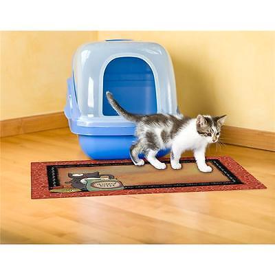 "DRYMATE CAT LITTER BOX MAT OR PET FOOD MAT 20"" x 28 ""HUNGRY KITTY"""